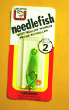 **Vintage** Luhr Jensen Needlefish 1051-002-582 Sz 2 Lime Green/Fish Scale