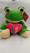 "Frog Soft Plush "" Love "" with Sound 9"" inches BRAND NEW"