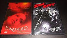 PARANOID & SIN CITY-2 movies-JESSICA ALBA, BRUCE WILLIS, MICKEY ROURKE,IAIN GLEN