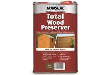 RONSEAL TOTAL WOOD PRESERVER DARK BROWN/GREEN/LIGHT BROWN 5L