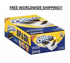 Nabisco Handi Snacks Oreo Cookies Sticks N Cream Dip 15 PACK FREE WORLD SHIPPING