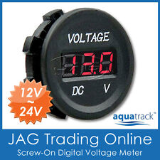 12V~24V DC LED DIGITAL VOLTMETER - Battery Test Volt/Voltage Meter - Flush Mount