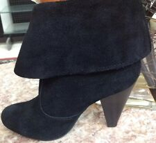 MIA Black Suede Fashion Ankle Boots Size 8 EUC