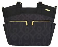 JJ Cole Camber Baby Diaper Bag Tote Black Gold w/ Changing Pad NEW