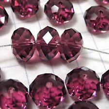 jewelry faceted the Rondelle Maroon glass crystal loose beads 6X8MM 70PC