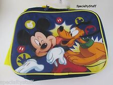 NEW DISNEY MICKEY MOUSE &FRIEND RECTANGLE SOFT INSULATED LUNCH BAG W/STRAP KMAMO