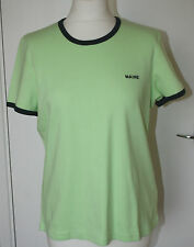 Maine UK16 EU44 US12 new green with navy trim cotton short-sleeved top