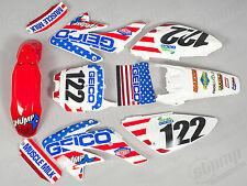 CRF70 Geico Plastics and Graphics crf70 pit bike Stomp Demon X WPB