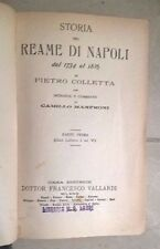 STORIA DEL REAME DI NAPOLI DAL 1734 AL 1825 COLLETTA MANFRONI VALLARDI 1905