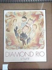 Extremely Rare SIGNED CD Cover Art Poster DIAMOND RIO ~ STUFF /  ARISTA  RECORDS