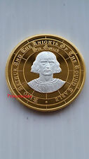 SIR GAWAIN~KING ARTHUR & KNIGHTS OF THE ROUND TABLE GOLD / SILVER PLATED COIN