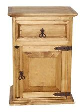 Rustic Night Stand 1 Drawer 1 Door Western Cabin Lodge Southwest Real Solid Wood