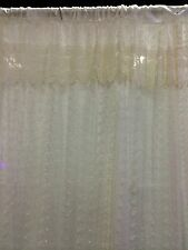 """French Country Rose with Macrame-54""""x84""""-Floral Curtain-Cream"""