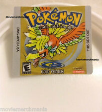 Pokemon Gold Version Custom Cartridge Replacement Label Sticker For GBA Game
