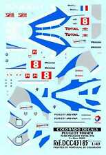 Colorado Decals 1/43 PEUGEOT 908 HDI Team Peugeot Total #8 Le Mans 2009