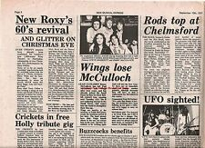 PAUL McCARTNEY & Wings lose Jimmy McCulloch 1977  UK ARTICLE / clipping