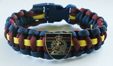 RAVC (ROYAL ARMY VETERINARY CORPS) PARACORD WRISTBAND WITH BADGES