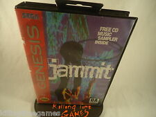 JAMMIT ! ( Sega Genesis System Console Video Game ) COMPLETE ! CLEANED, TESTED !