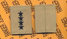 US ARMY General GEN 0-10 Desert DCU slip on rank patch