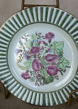 Vintage Jena Hall for Toyo Trading Co Hand Painted Raised Flower With Gold Plate