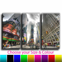 New York Times Square Treble Canvas Wall Art Picture Print 9