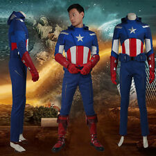 2016 Movie The Avengers 1 Captain America Cosplay Costume Steve Rogers Adult