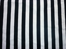CLEARANCE YARD  BLACK AND WHITE STRIPE FABRIC