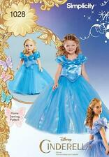 "SIMPLICITY SEWING PATTERN Disney Cinderella Costume  Child 18"" Doll 3 - 8 1028"