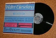 LP Beethoven Walter Gieseking Herbert von Karajan Columbia ML 4535 Made in USA