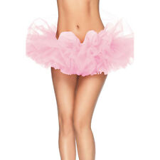 Leg Avenue Organza Tutu Costume Ballet Rave Petticoat Mini Skirt Light Pink