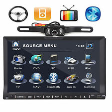 "Camera+Double 2Din 7"" Car DVD Player In dash Radio Ipod TV BT W/O GPS Head Unit"