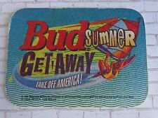 Beer Brewery Coaster ~  ~ 1995 Budweiser Bud Summer Get Away ~ Take Off America!