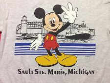 Used Mickey Mouse Sault Ste. Marie Michigan Medium T-shirt Boat Lake Disney