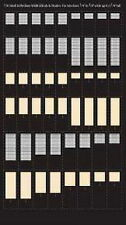"""City Classics-HO Scale -- #710 Small & Medium Blinds and Shades 5/16"""" to 3/8"""""""