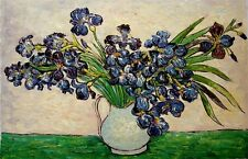 """Van Gogh reproductions Oil Painting - Irises- size 36""""x24"""" Ready to hang"""