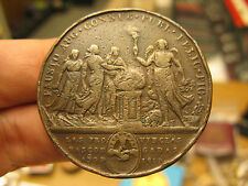 Ferdinand VII Basque Provinces Royal Wedding Medal 1819 in bronze by Merino