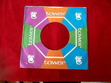 "TOWER RECORDS~RARE~~ RECORD COMPANY SLEEVE ~ 7"" SINGLE 45 RPM"
