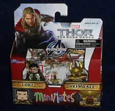 Marvel MiniMates 53 Thor: The Dark World LOKI & HEIMDALL Action Figure 2 PK
