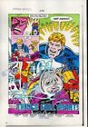Original 1980's Captain America 296 Marvel Comics color guide splash page 6:1984