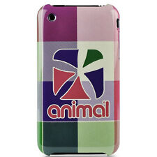Animal Tech Check Hard Shell Case For iPhone 3GS - Fluro Pink NEW