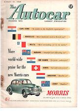 revue automobile: the Autocar: august 19 1949