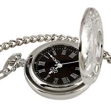 Herrenuhr Taschenuhr Herren mechanisch Uhr silberne Pocket Watch