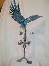 LARGE Handcrafted 3Dimensional Flying EAGLE Weathervane Copper Patina finish