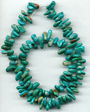 "FOX MINE TURQUOISE DROP BEADS - 486A - 16"" Strand"