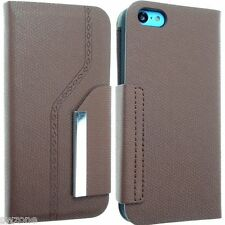 FOR APPLE IPHONE 5 5S SLIM SMART CASE COVER WALLET FLIP POUCH + SCREEN PROTECTOR