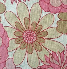 1950s/60s VINTAGE COTTON MIX  FABRIC. MID-CENTURY MODERN - FUNKY FLOWERS