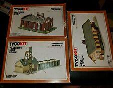 TYCO KIT HO #7764 MACHINE SHOP,  #7763 TRACKSIDE SAND HOUSE, #7761 ARLEE STATION