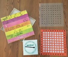vintage multiplay 1972 multiplication learning game, Great Learning Tool!