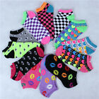 12 Pairs Women's Ankle Socks Assorted Styles Low Cut One Dozen Size 9-11