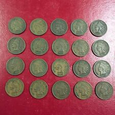 Old Antique 1907 Indian Head Penny American US Coin Collection Money 20 Lot